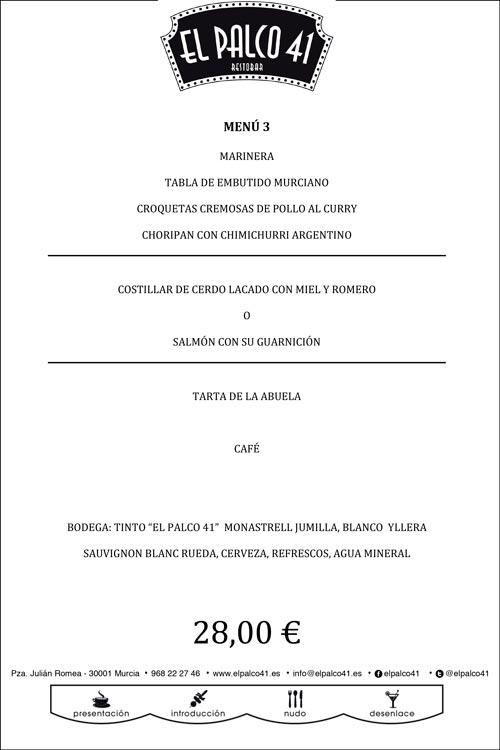 menu navideño