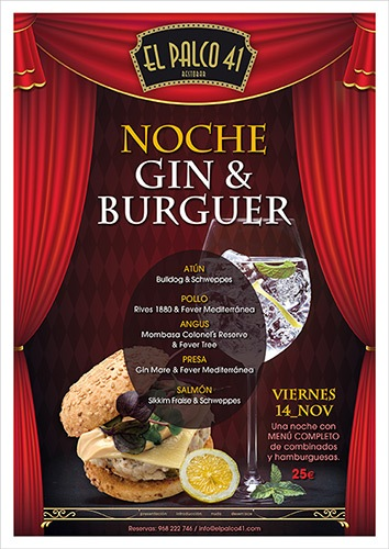 cena gin burger